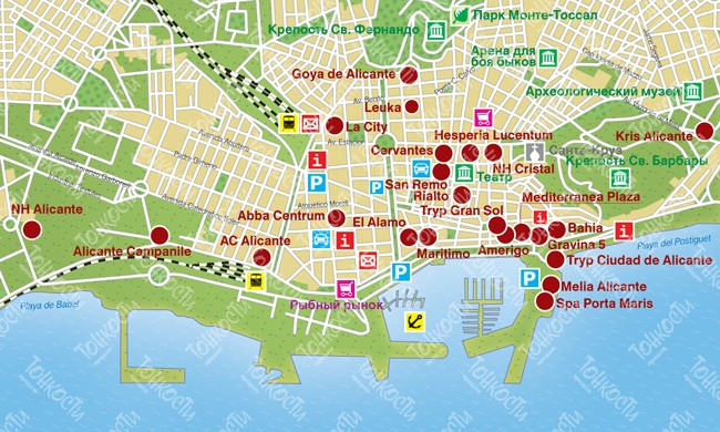 Сан хуан аликанте на карте